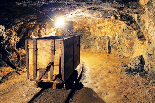 bigstock-Mining-Cart-In-Silver-Gold-C-65196289